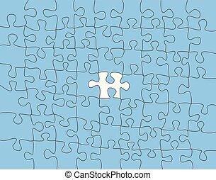 fait, coloré, résumé, morceaux puzzle, vecteur, endroit, fond, blanc, ton, content.