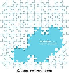 fait, couleur, résumé, jigsaw., vecteur, fond