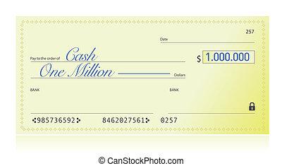fait, dollars, million, une, closeup, viser