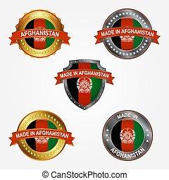 fait, illustration, étiquette, vecteur, conception, afghanistan.