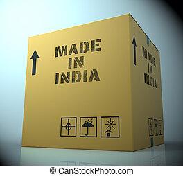 fait, inde, asie, rendre, importation, indiquer, 3d