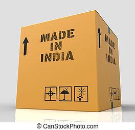 fait, indique, inde, asie, rendre, importation, 3d