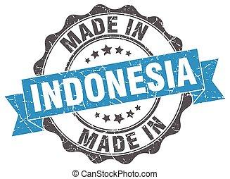 fait, indonésie, rond, cachet