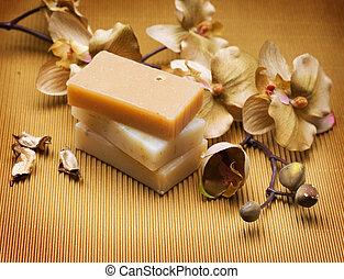 fait main, soap., spa
