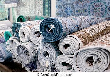 tunisie tapis march vente kairouan tunisia tapis photographie de stock rechercher. Black Bedroom Furniture Sets. Home Design Ideas