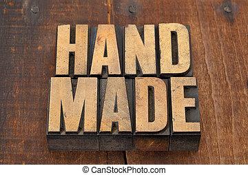fait main, type, letterpress