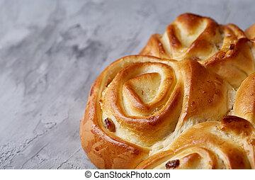 fait maison, pain, rose, sommet, peu profond, profondeur,...