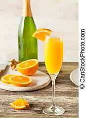 fait maison, rafraîchissant, orange, mimosa, cocktails