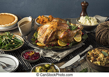 fait maison, thanksgiving turquie, dîner