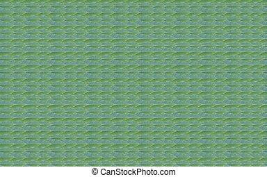 fait, modèle feuille, arrière-plan vert, frais