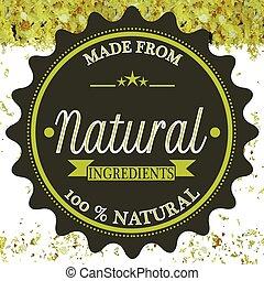 fait, naturel, ingrédients