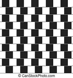 fait, oreillers, -, lignes, illusion, optique, noir, blanc,...