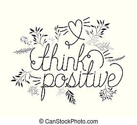 fait, positif, main, message, police, penser