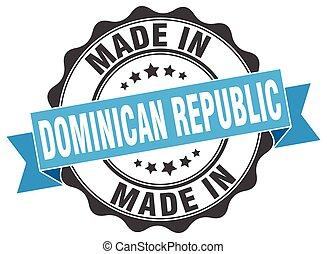 fait, république, dominicain, rond, cachet