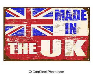 fait, royaume-uni, émail, signe