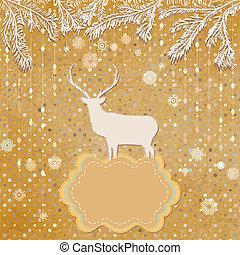 fait, snowflakes., eps, ornements, 8, noël