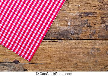 fait, vieux, bois, fond, table, nappe