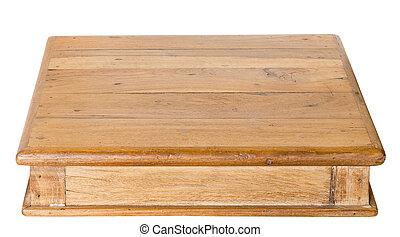 fait, vieux, porté, bois, artisan, table