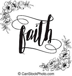 Faith Calligraphy Typography card - Faith Calligraphy...