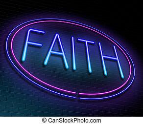 Faith concept.