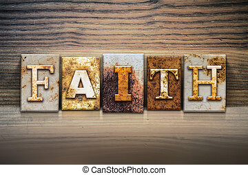Faith Concept Letterpress Theme