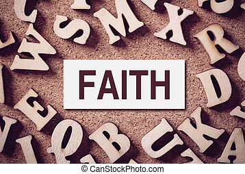 Faith Concept Word