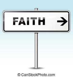 faith directional sign