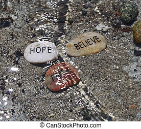 Faith, Hope, Believe in waves
