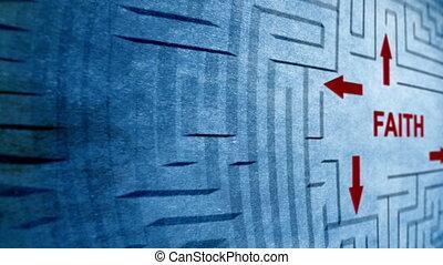 Faith maze concept