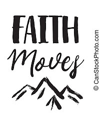 Faith Moves Mountains Bible Scripture Art