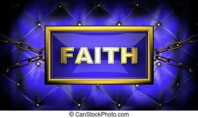 faith on velvet background