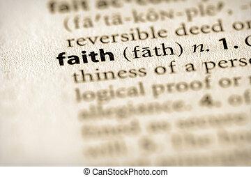 """Faith - Selective focus on the word \\\""""faith\\\"""". Many more..."""