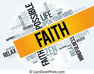 Faith word cloud