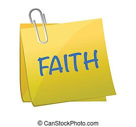 Faith word on piece paper illustration