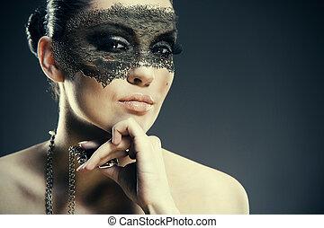 faity, tale., abstrakt, grungy, weibliche , porträt