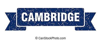faixa, azul, ribbon., sinal, grunge, cambridge