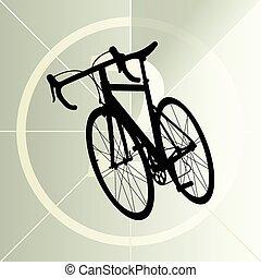 faj, út bicikli, bicikli, ikon, transzparens, vektor, elvont, ábra