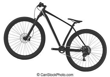 faj, út bicikli, elszigetelt, white, háttér