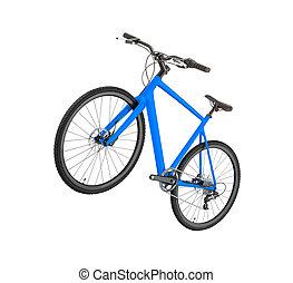 faj, út bicikli, elszigetelt, white