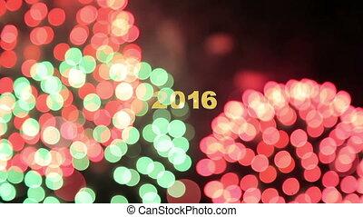 fajerwerk, nowy rok, 2016