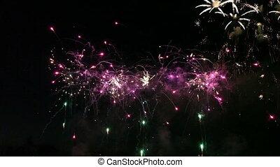 fajerwerki, barwny, celebrowanie