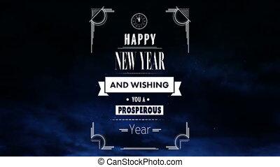 fajerwerki, nowy rok, szczęśliwy, ożywienie
