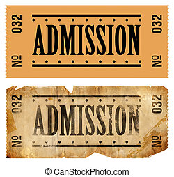 Admissions Ticket - Fake Admissions Tickets. New and old/...