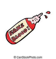fake blood cartoon