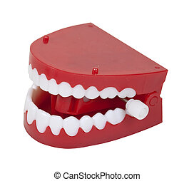 Fake Chattering Teeth - Humorous fake chattering teeth with...