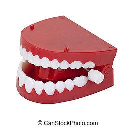 Fake Chattering Teeth - Humorous fake chattering teeth with...