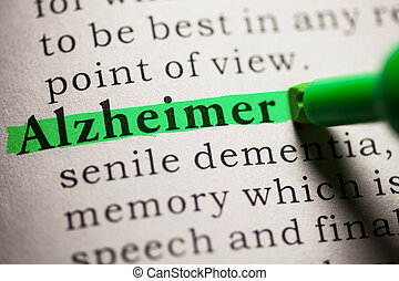 Alzheimer - Fake Dictionary, definition of the word...
