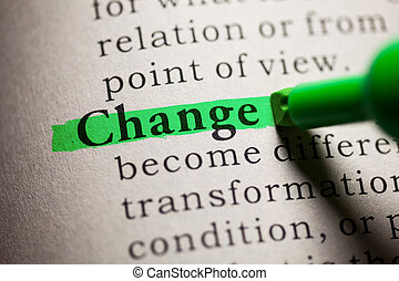 Change - Fake Dictionary, definition of the word Change.
