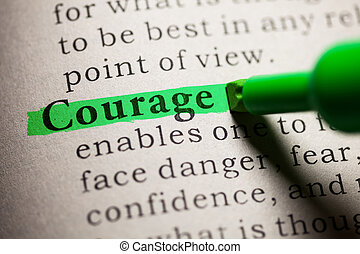 Fake Dictionary, definition of the word courage.