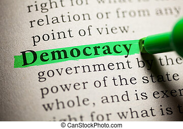 Democracy - Fake Dictionary, definition of the word...